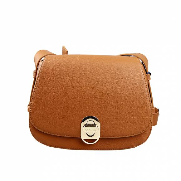 Γυναικεία Τσάντα Trussardi 75B01002 9Y099998 B660 Boston Shoulder Md Tumbled Ecoleather Cuoio