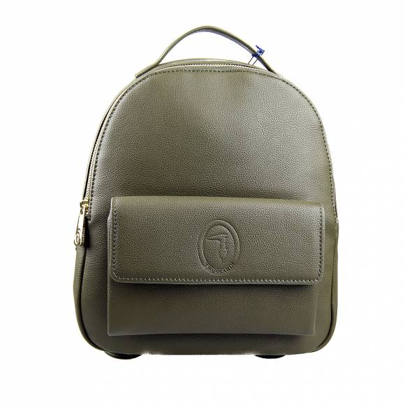 Γυναικεία Τσάντα Backpack Trussardi 75B01012 9Y099999 G260 Belgrado Backpack Md Smooth Ecoleather Military