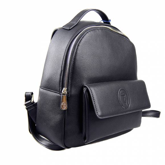 Γυναικεία Τσάντα Backpack Trussardi 75B01012 9Y099999 K299 Belgrado Backpack Md Smooth Ecoleather Black