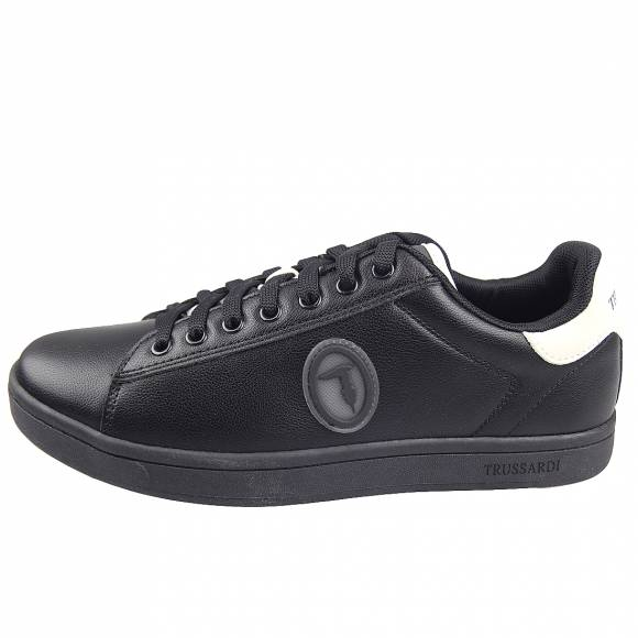 Ανδρικά Sneakers Trussardi Galium Luxury Pu Pu Nabuk Patch Tpr 77A00274 9Y099999 K709 Black Ice