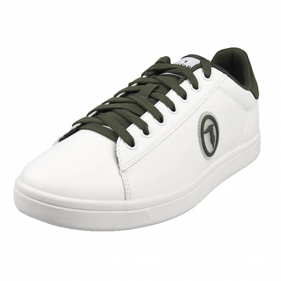 Ανδρικά Sneakers Trussardi Galium Luxury Pu Pu Nabuk Patch Tpr 77A00274 9Y099999 W784 White Military