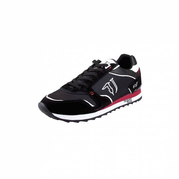 Ανδρικά Δερμάτινα Sneakers Trussardi Runner Nylon 77A00188 K605 Black Cherry 9Y099999 New Nylon