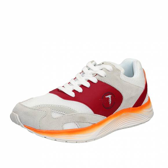 Ανδρικά Sneakers Trussardi Running PU Mesh Color Block 77A00226 9Y099998 W736 Ice White Red