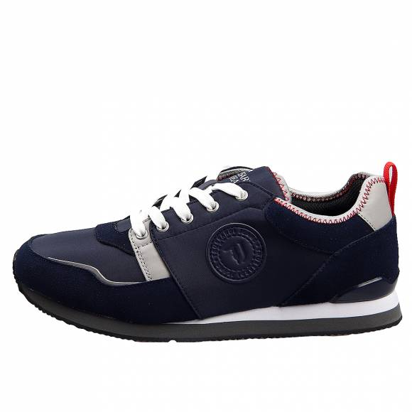 Ανδρικά Sneakers Trussardi Running Pu Nylon 77A00245 9Y099999 U711 Navy Blue Grey