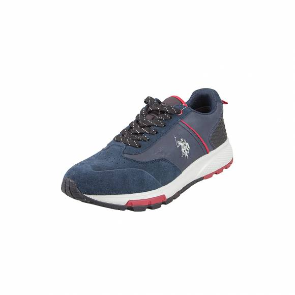 Ανδρικά Δερμάτινα Sneakers Us Polo Assn Axel4120W9 SY1 Heck DkBl