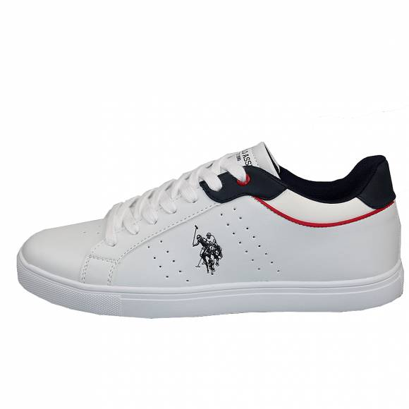 Ανδρικά Δερμάτινα Sneakers Us Polo Assn Curt White Dark Blue Curty 4244S0 Y1