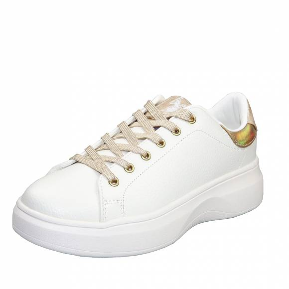 Γυναικεία Sneakers Us Polo Assn Miriam1 Club White Gold Jewel4162W9 Y2