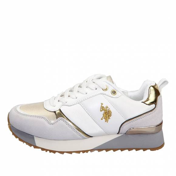 Γυναικεία Sneakers Us Polo Assn Tabitha4 White Gold Frida 4103W8 NS1