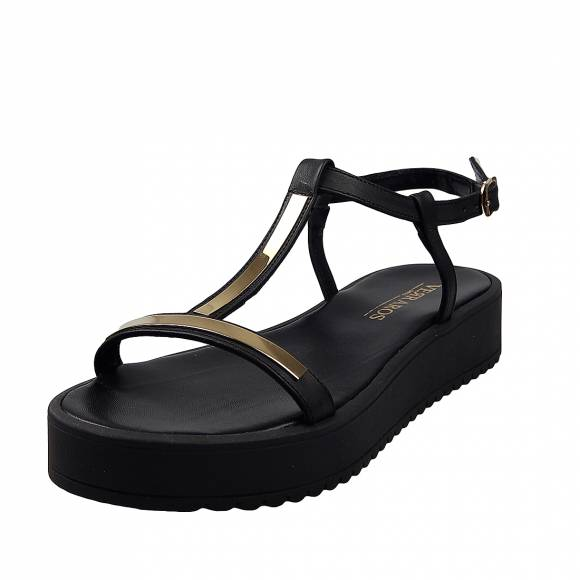 Γυναικείες Flatforms  Verraros 20582 Black