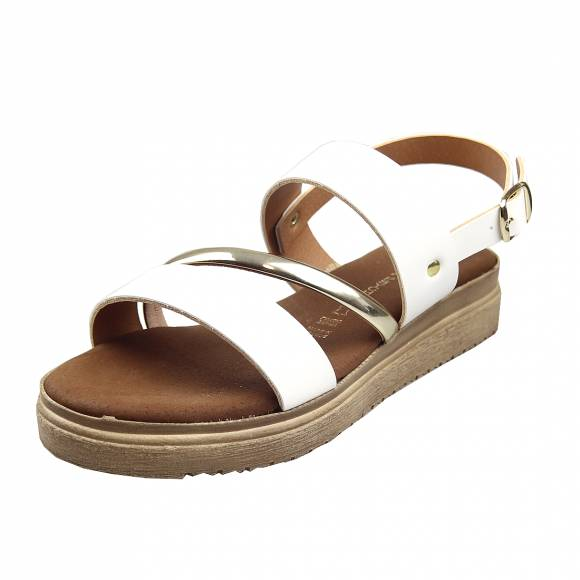 Γυναικεία Flatforms Verraros 35960 White
