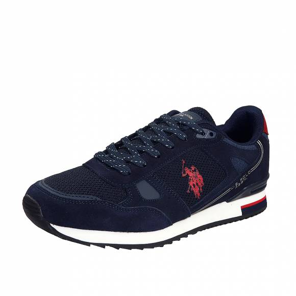 Ανδρικά Sneakers Us Polo Assn Wilde3 Ferry4083W8 SM1 Suede Dark Blue Red