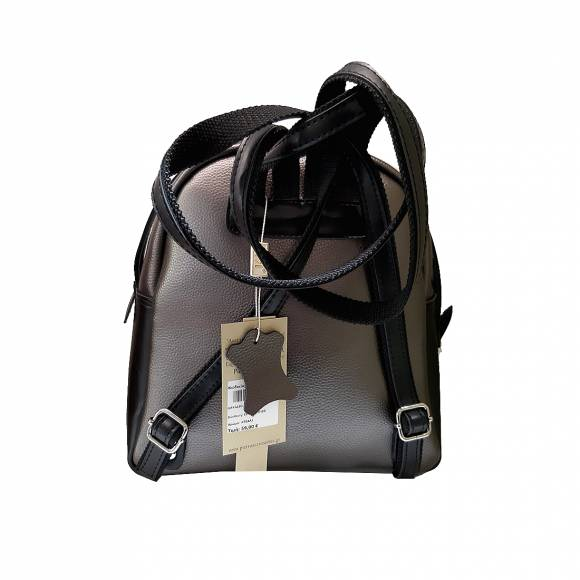 Γυναικεία Τσάντα Backpack Eco Leather Pierro Accessories 90566DL28 Silver